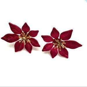 Pointsetta Earrings